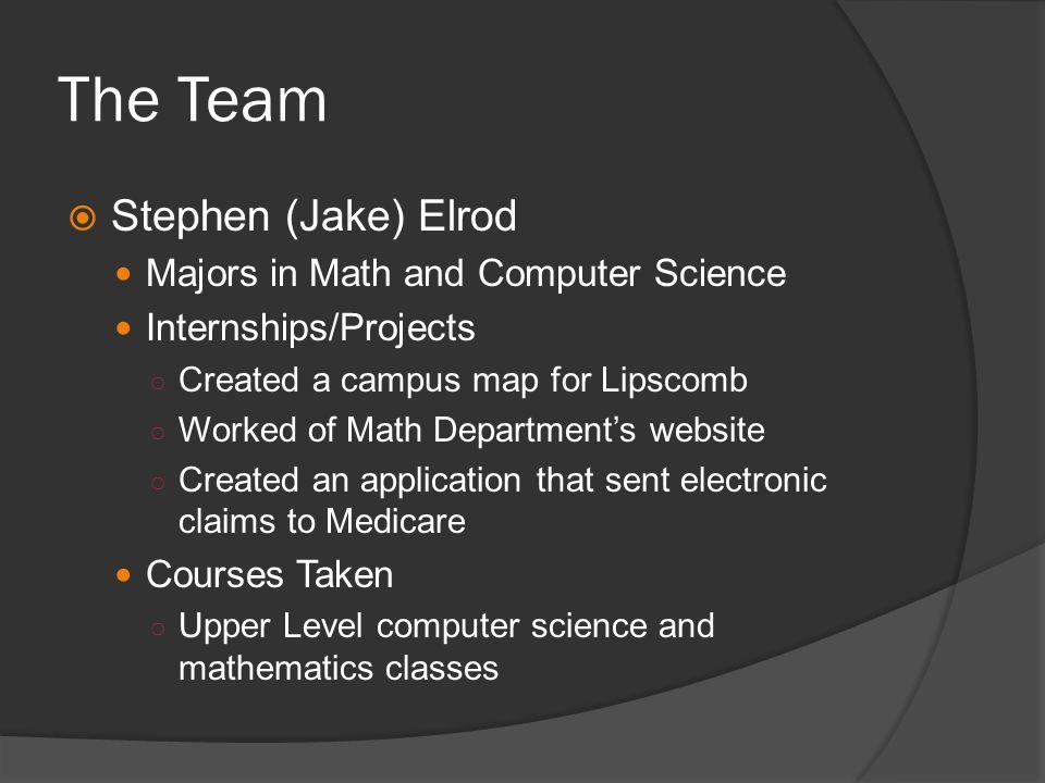 Team College Currents The Team Owen Herndon Team Leader Major