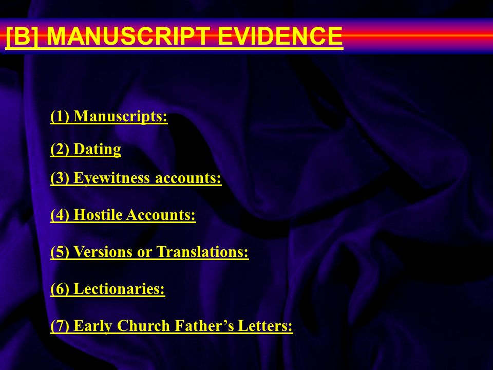 New testament manuscripts dating after divorce