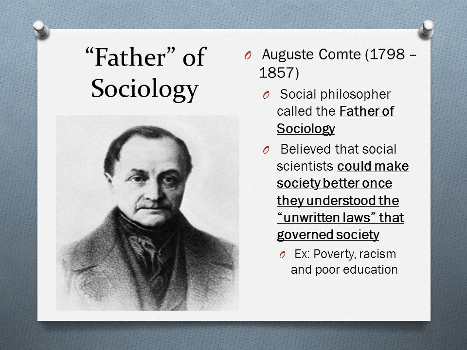 what is the father of sociology