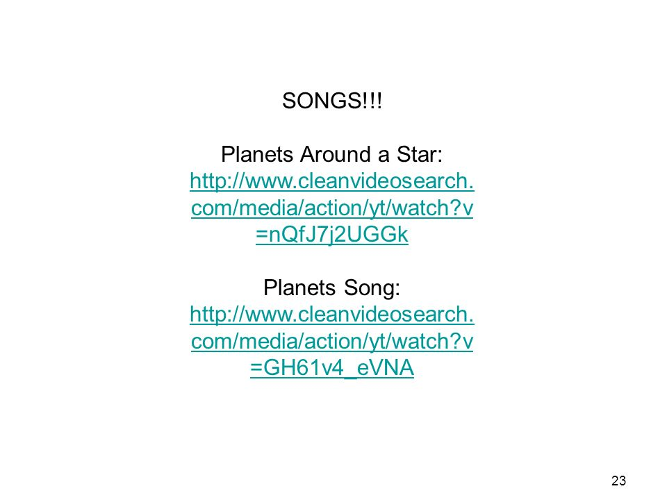 23 SONGS!!. Planets Around a Star: