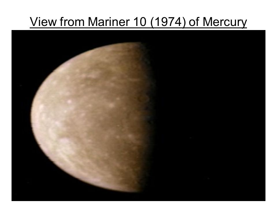 View from Mariner 10 (1974) of Mercury
