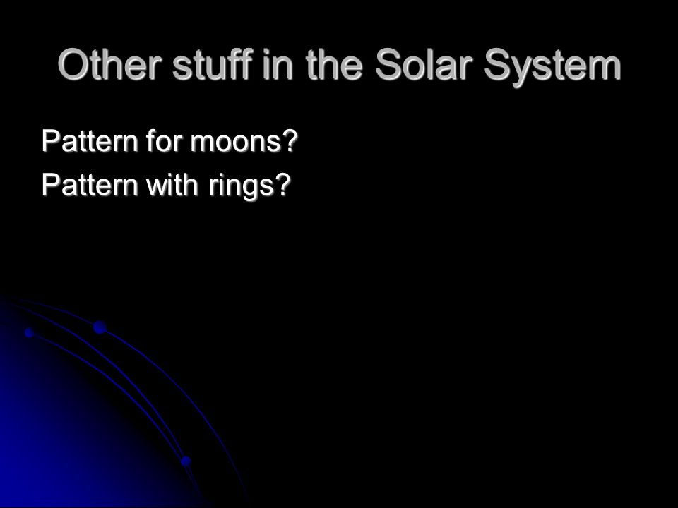 Other stuff in the Solar System Pattern for moons Pattern with rings