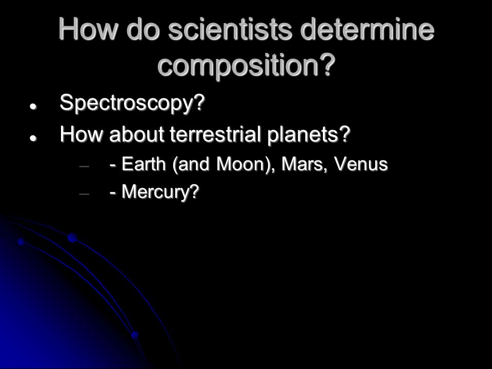 How do scientists determine composition. Spectroscopy.