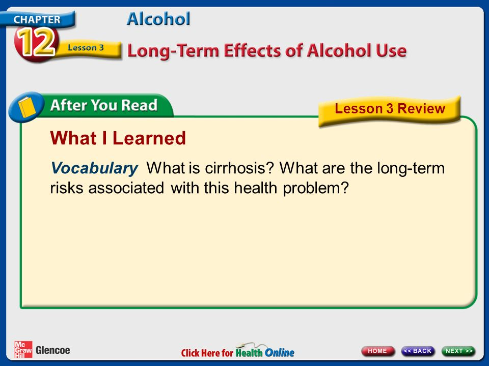 What I Learned Vocabulary What is cirrhosis.