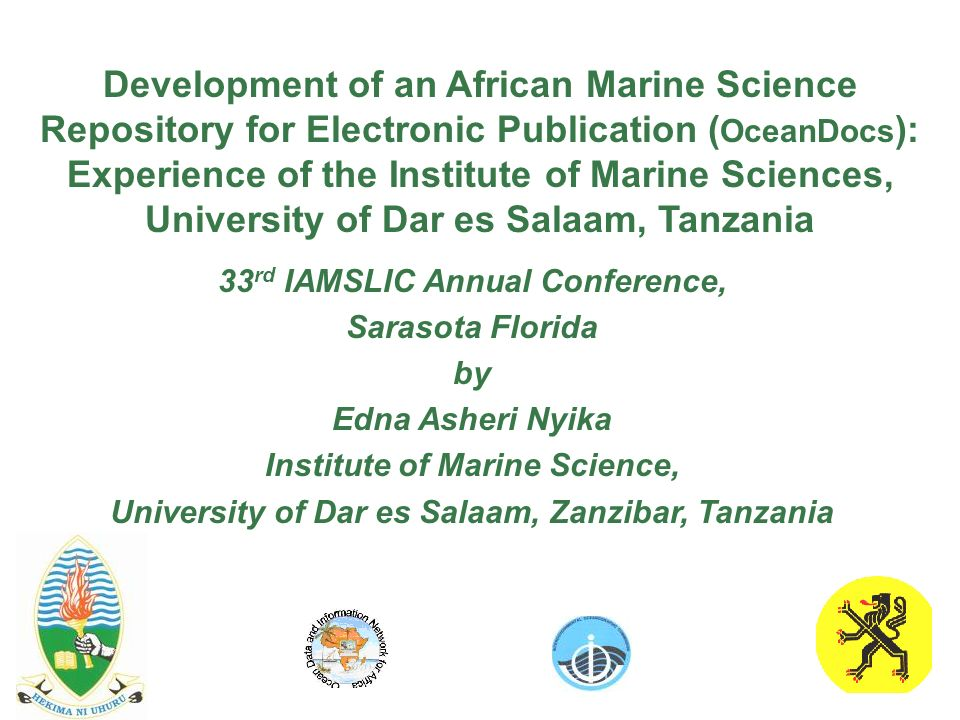 Development of an African Marine Science Repository for