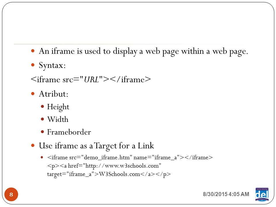 Week 09, Session 01 Other HTML Tags & HTML5 IF Website Development