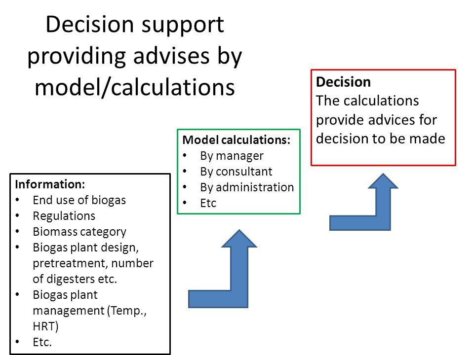 Decision support Sven G  Sommer University of Southern Denmark