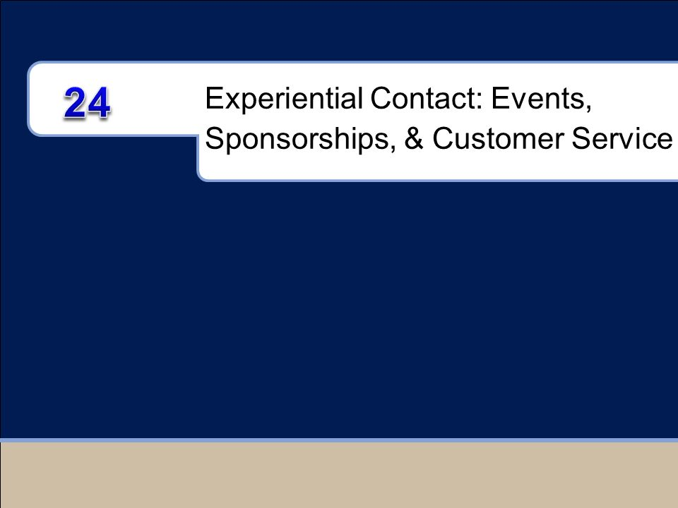 Experiential Contact: Events, Sponsorships, & Customer