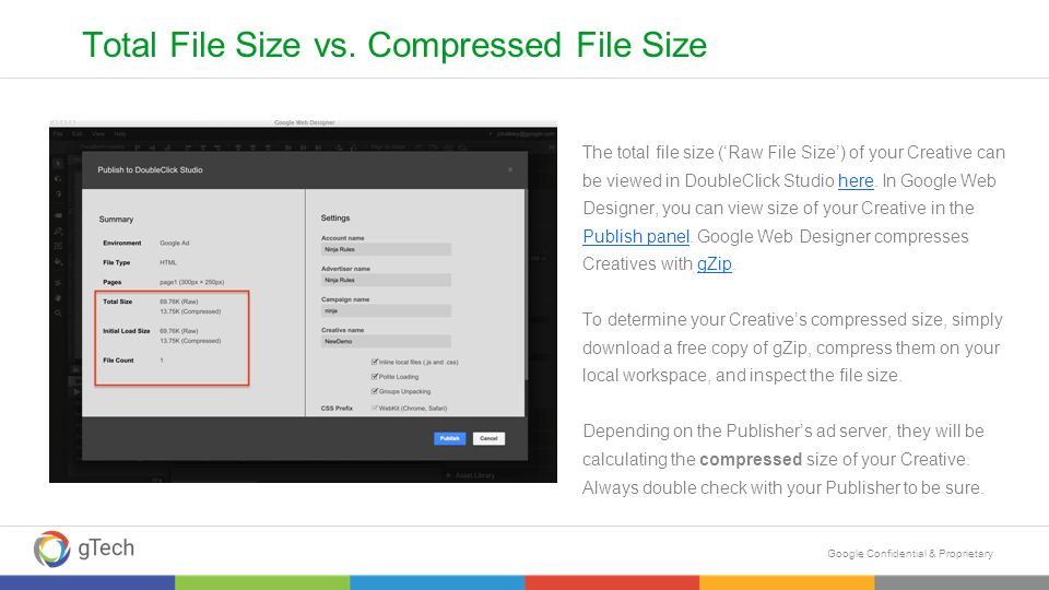 Google Confidential Proprietary Best Practices For Reducing Html5 File Size Q Ppt Download