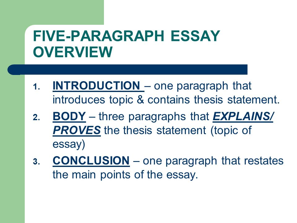 thesis statement notes fiveparagraph essay overview   fiveparagraph essay overview   a thesis statement