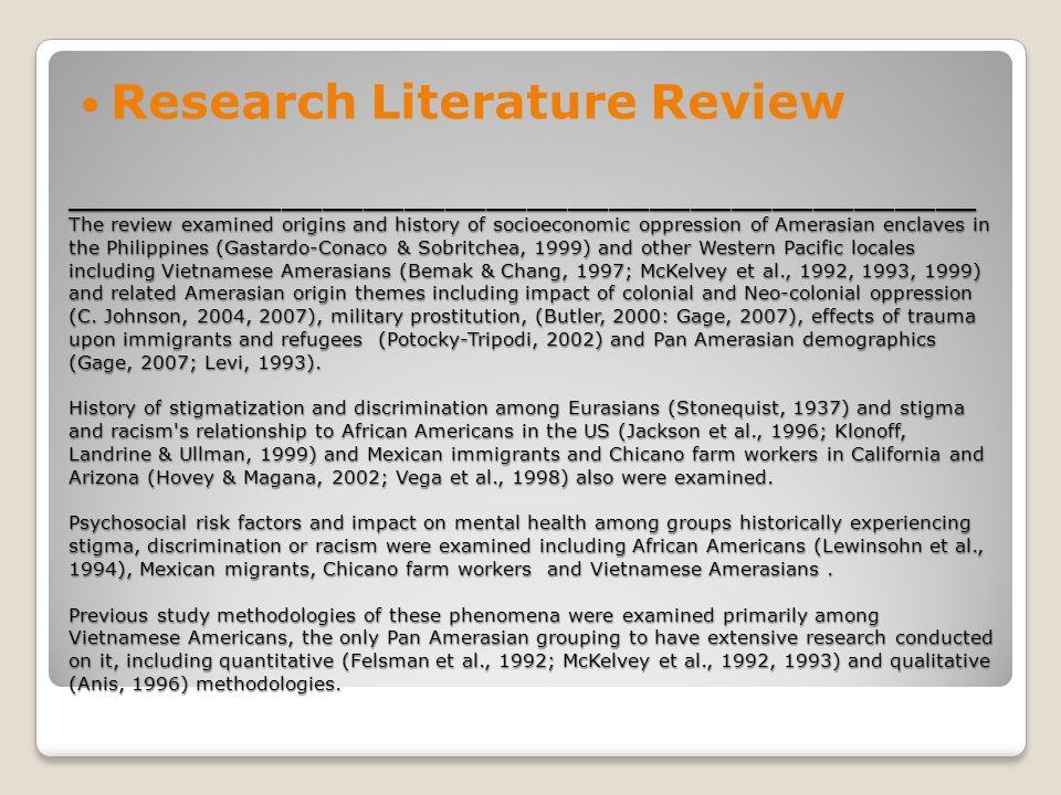 Stigma Psychosocial Risk And Core Mental Health Sympotomatology