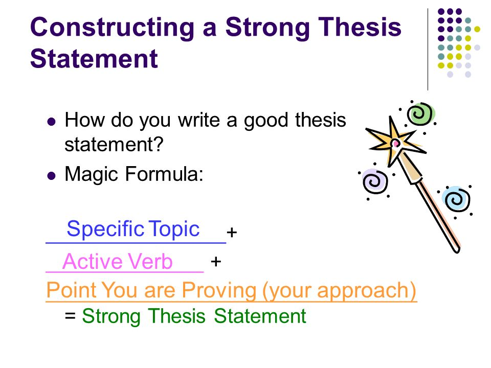 Constructing a Strong Thesis Statement How do you write a good thesis statement.