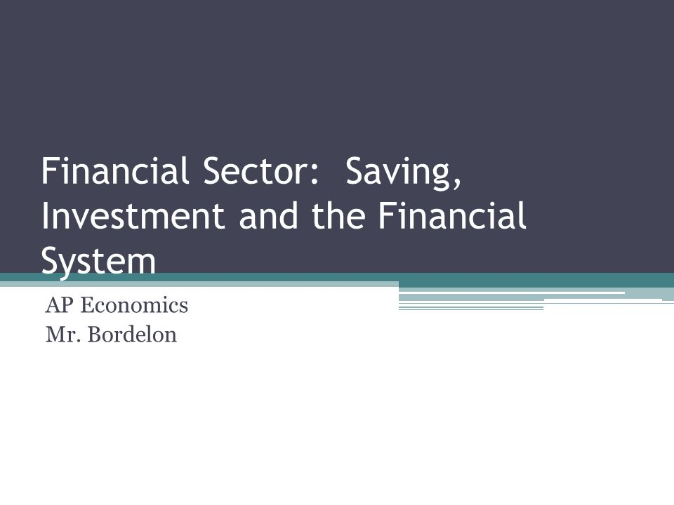 savings investment and the financial system test 13