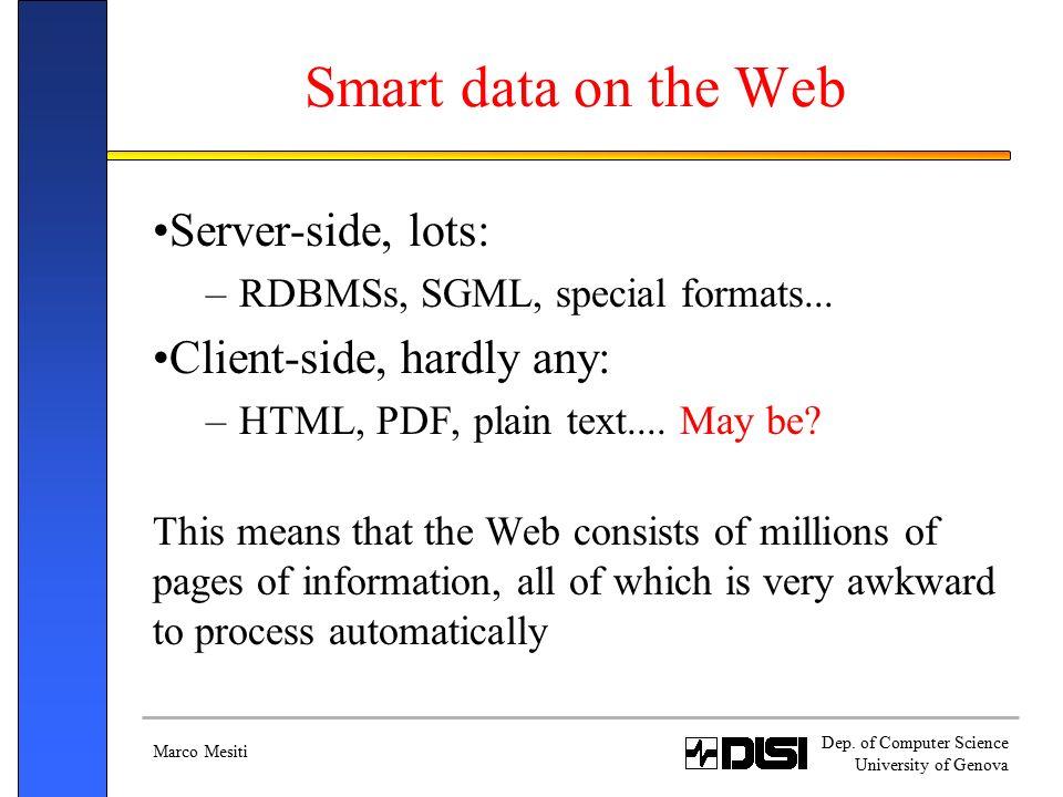 Marco Mesiti Dep. of Computer Science University of Genova XML ...