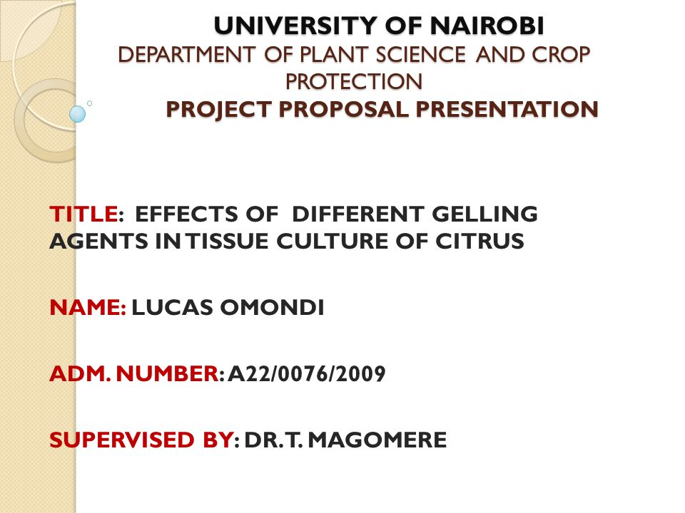 university of nairobi department of plant science and crop
