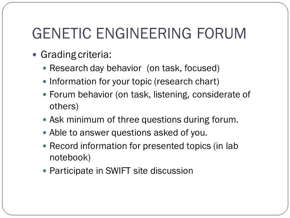 genetic engineering topics