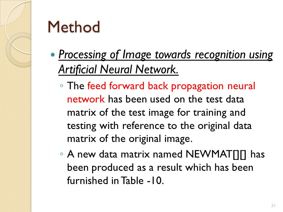 Image Recognition and Processing Using Artificial Neural