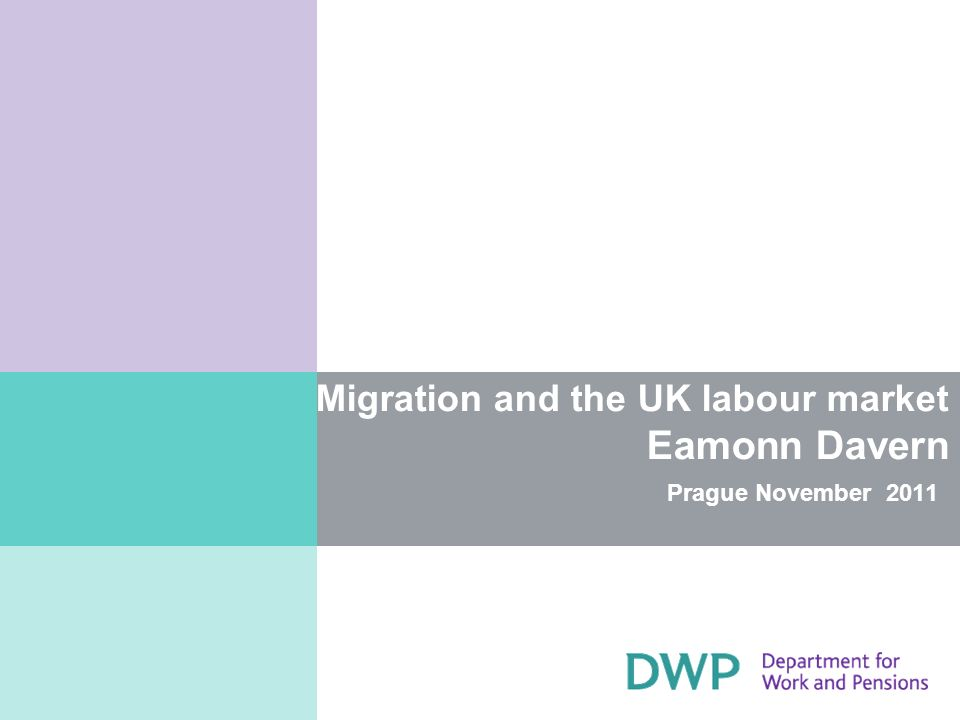 Migration and the UK labour market Eamonn Davern Prague November 2011