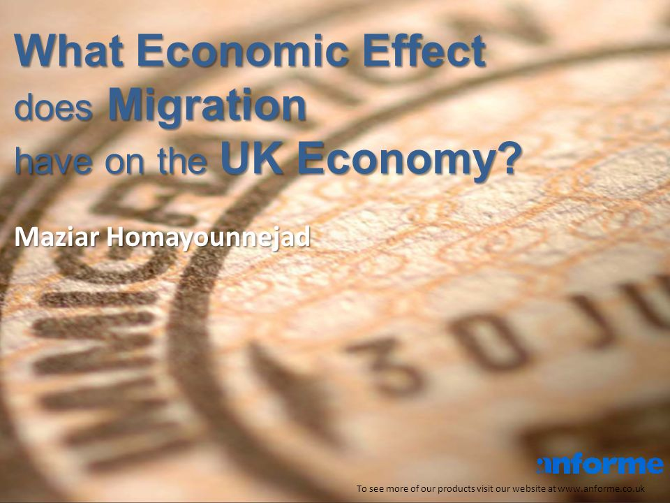 What Economic Effect does Migration have on the UK Economy.