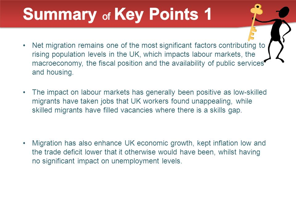 Net migration remains one of the most significant factors contributing to rising population levels in the UK, which impacts labour markets, the macroeconomy, the fiscal position and the availability of public services and housing.