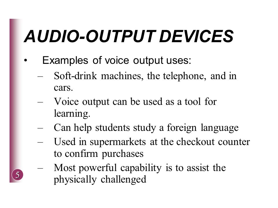 Input and output devices 2015.