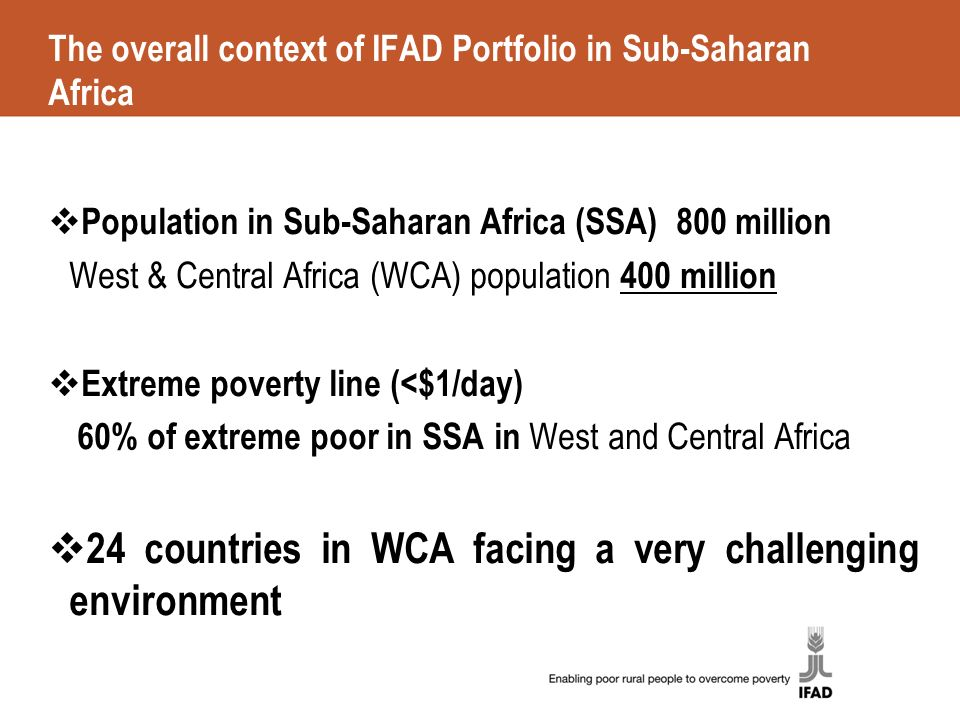 Western and Central Africa Portfolio Performance Review