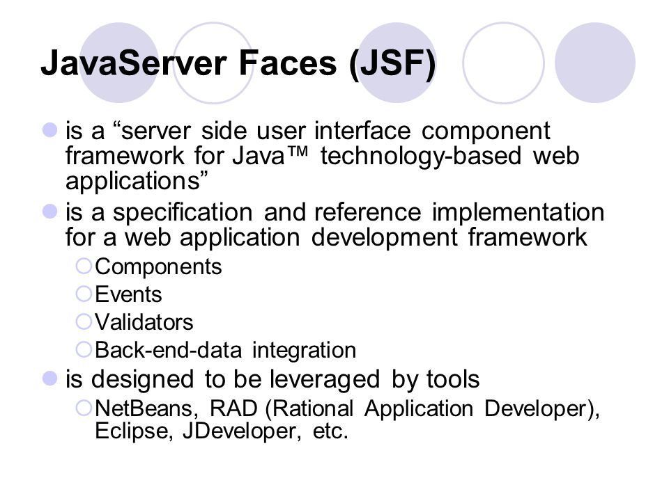 JavaServer Faces: The Fundamentals Compiled from Sun