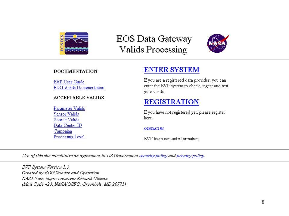 1 EDG Valids Activities Patrick Agbu & Frank Corprew EOS Data