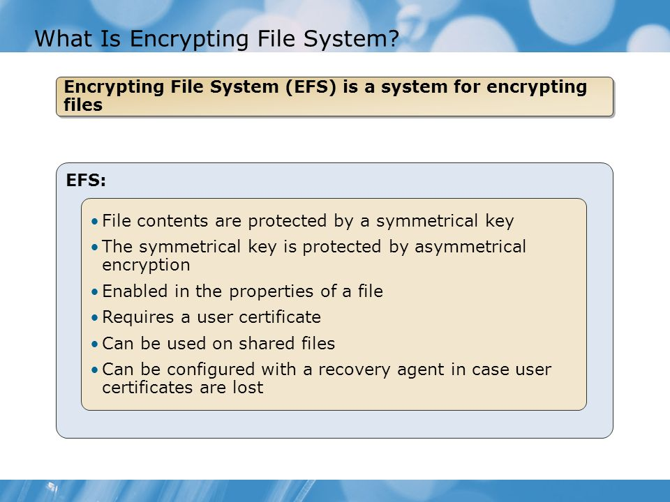 What Is Encrypting File System.