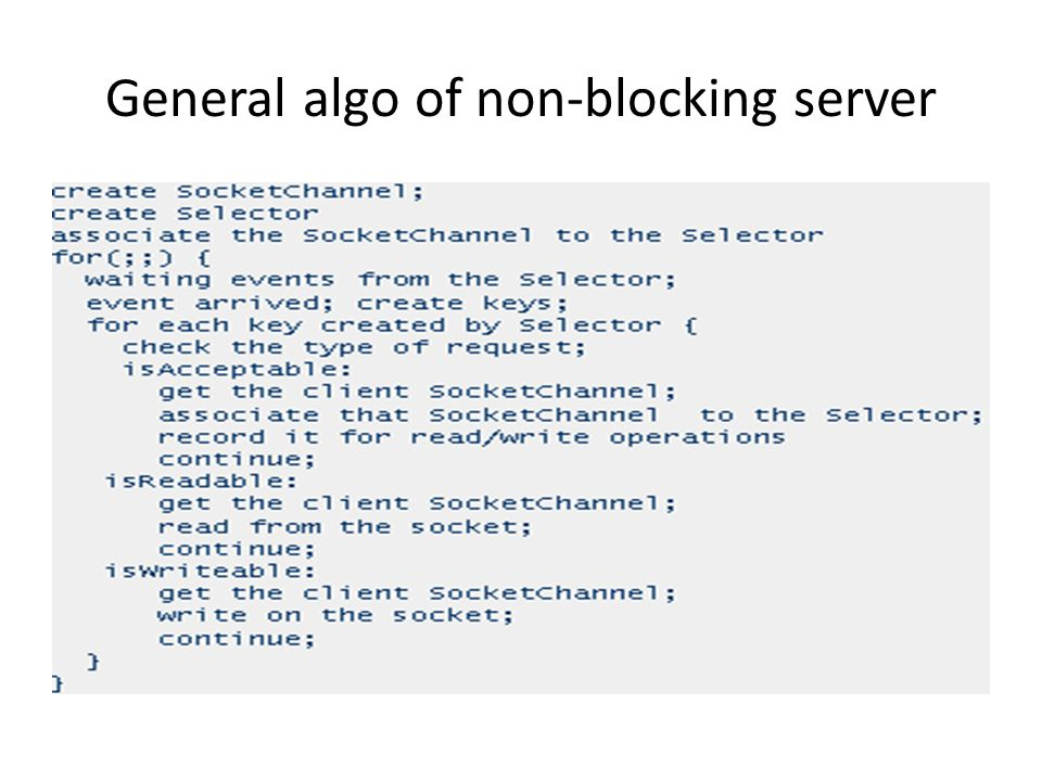 General algo of non-blocking server