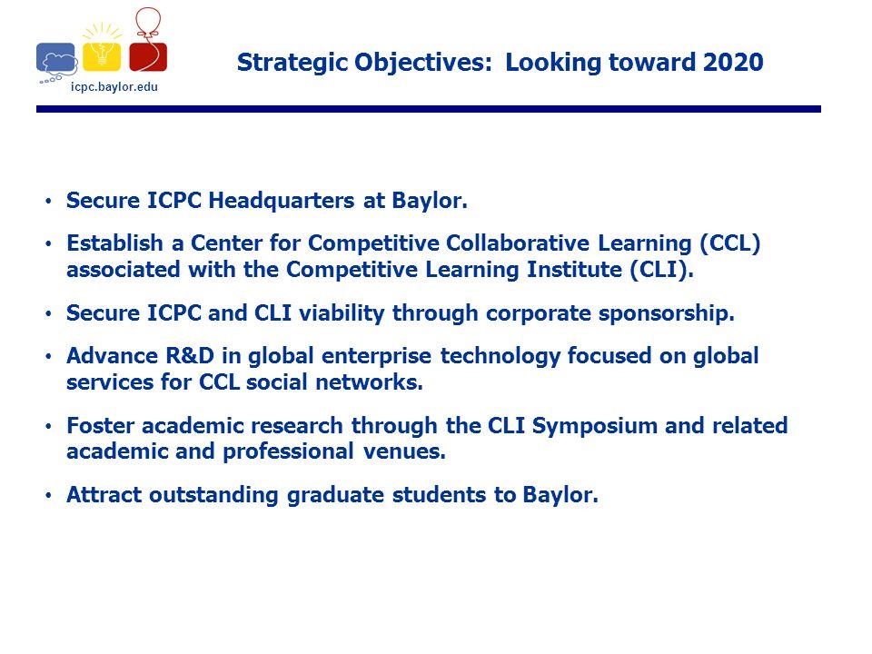 Baylor Graduation 2020.Icpc Baylor Edu Strategic Objectives Looking Toward 2020