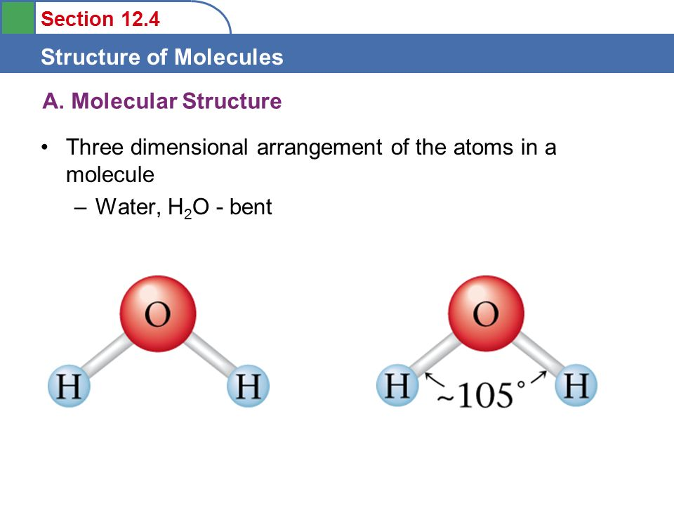 section 12 4 structure of molecules 1 to understand molecular