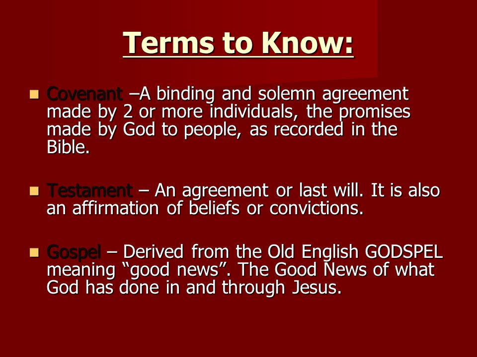 Background To Scripture Part Two Terms To Know Literalist People