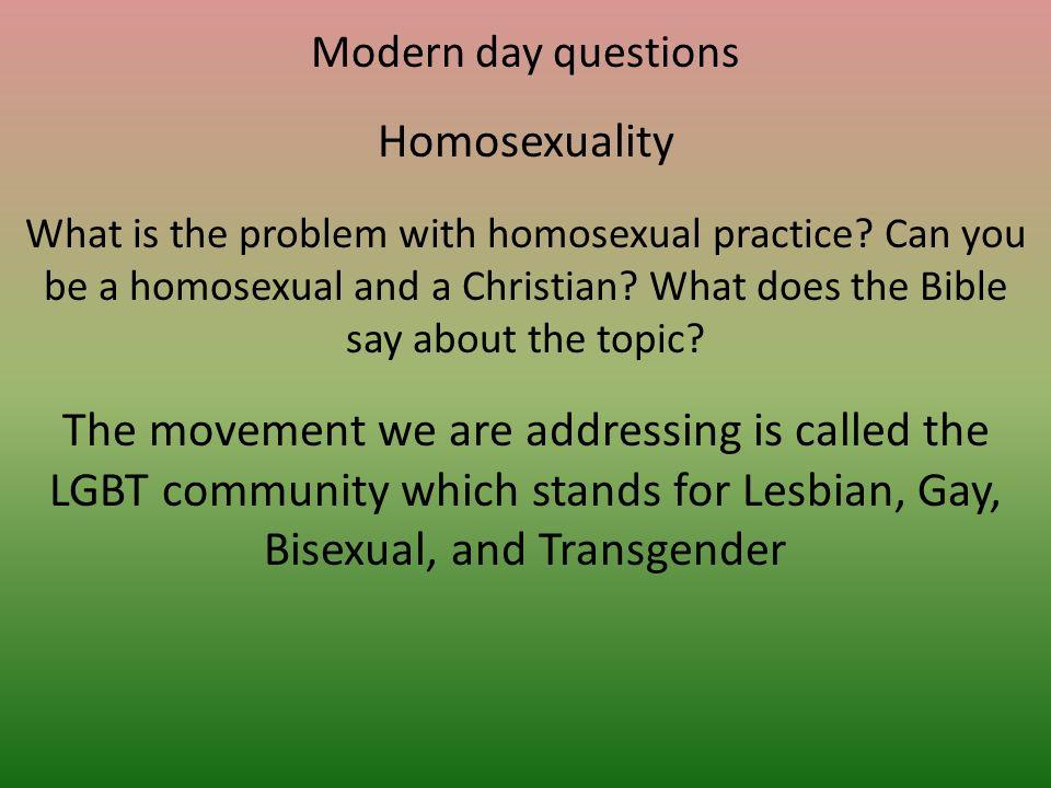 Can a lesbian be a christian