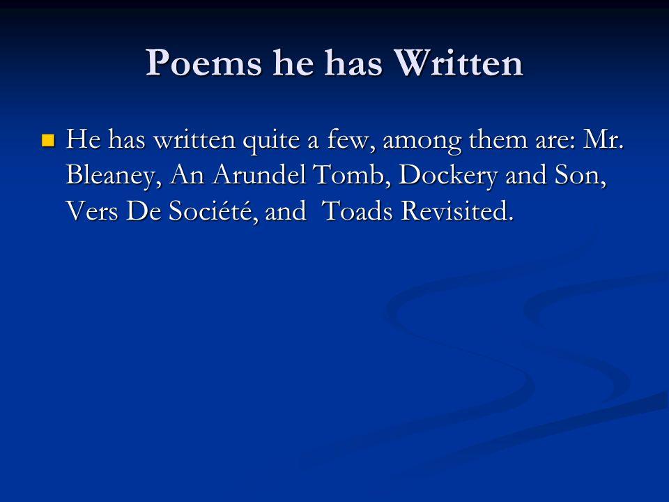 mr bleaney poem