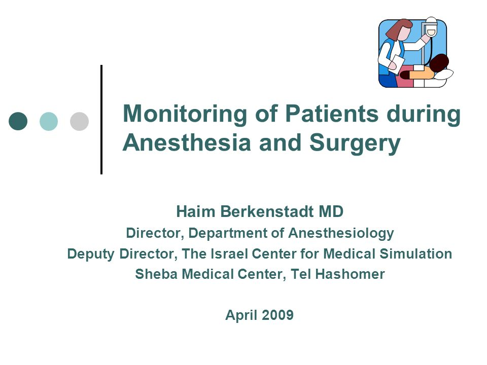 Monitoring of Patients during Anesthesia and Surgery Haim
