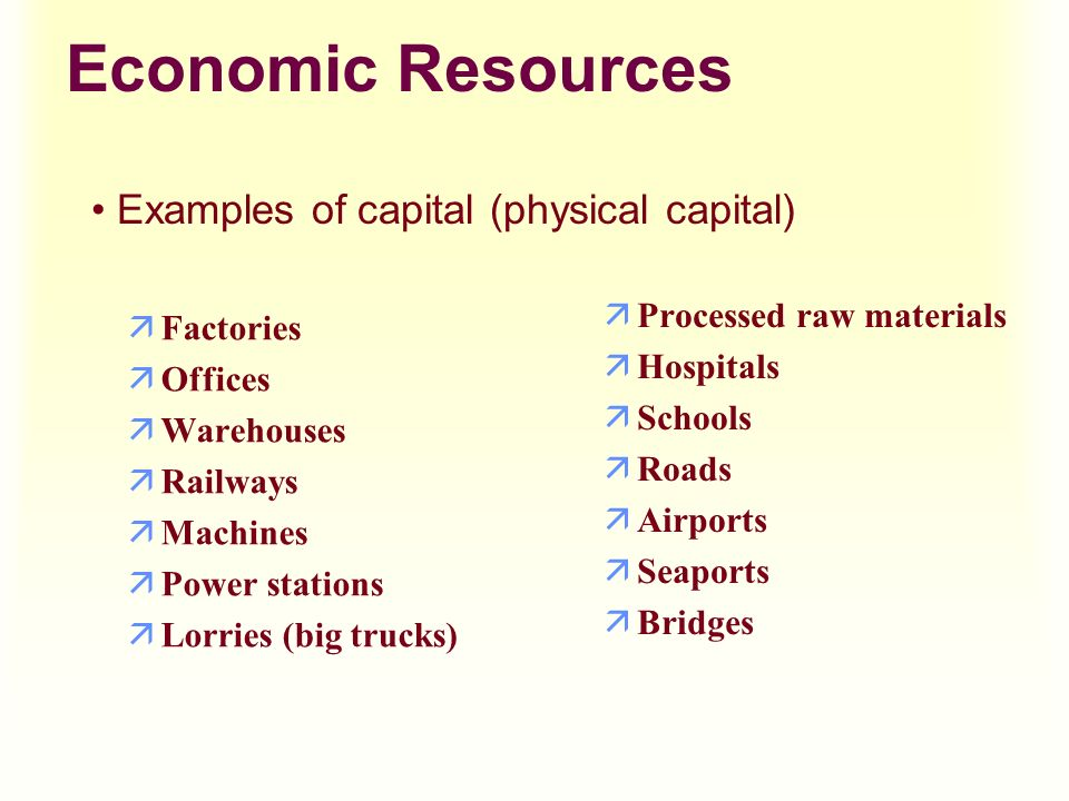 Economies of scale and resource mix.