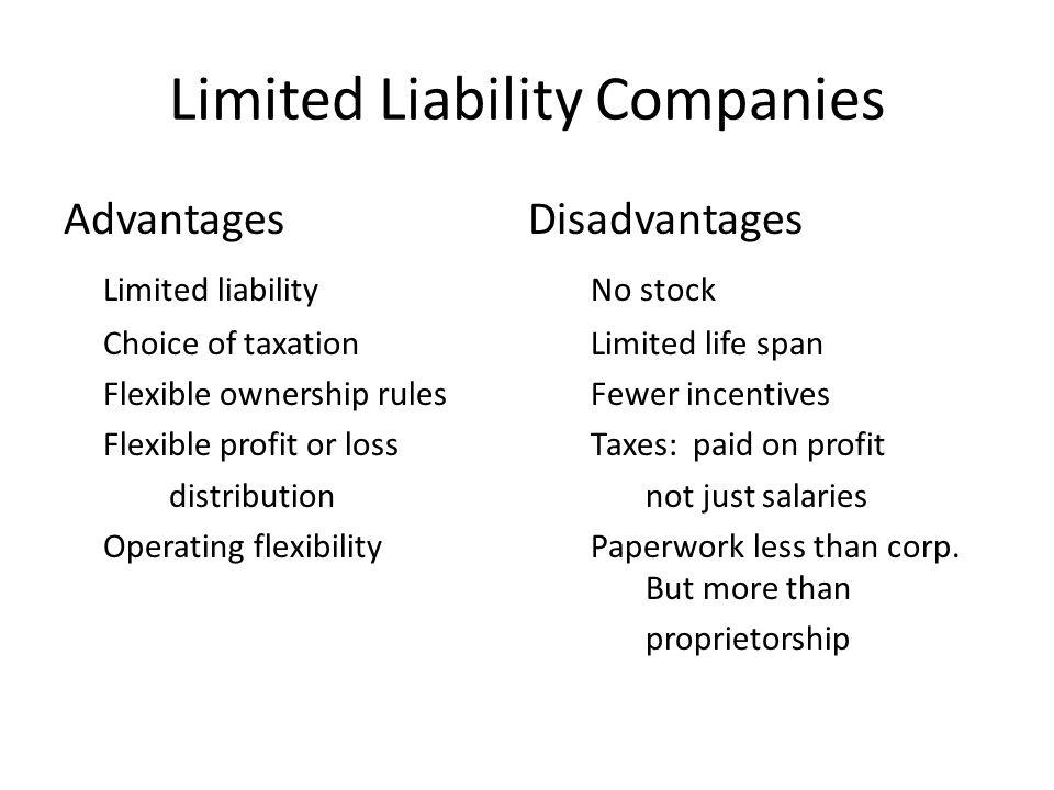7 Limited Liability Companies Advantages