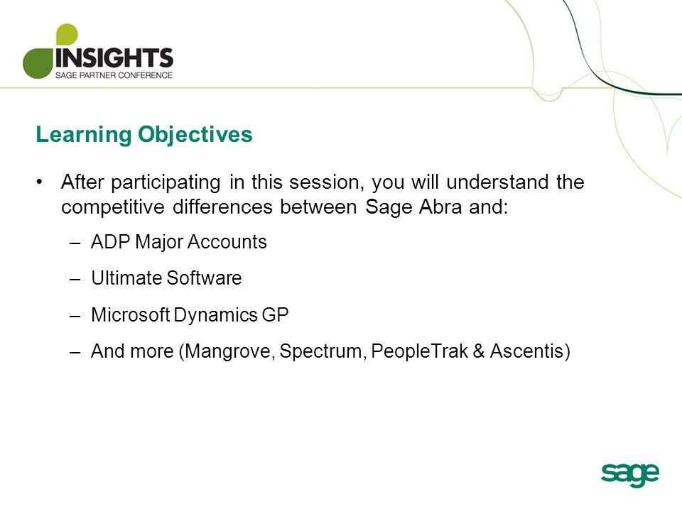 Session Number: HPT13 Sage Abra Competitive Briefing Tom