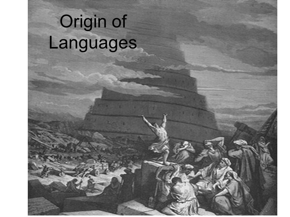 Origin of Languages