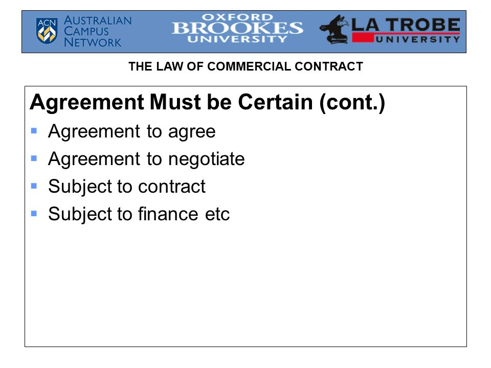 The Law Of Commercial Contract Law Of Contract Revision Ppt Download