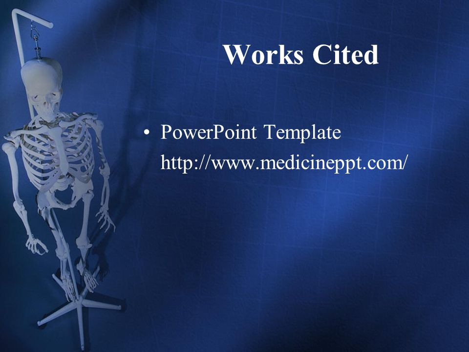 Works Cited PowerPoint Template