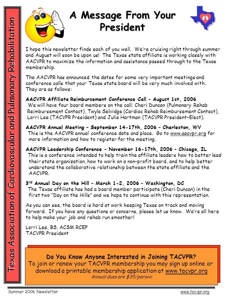 summer 2006 newsletterwww tacvpr org texas association of