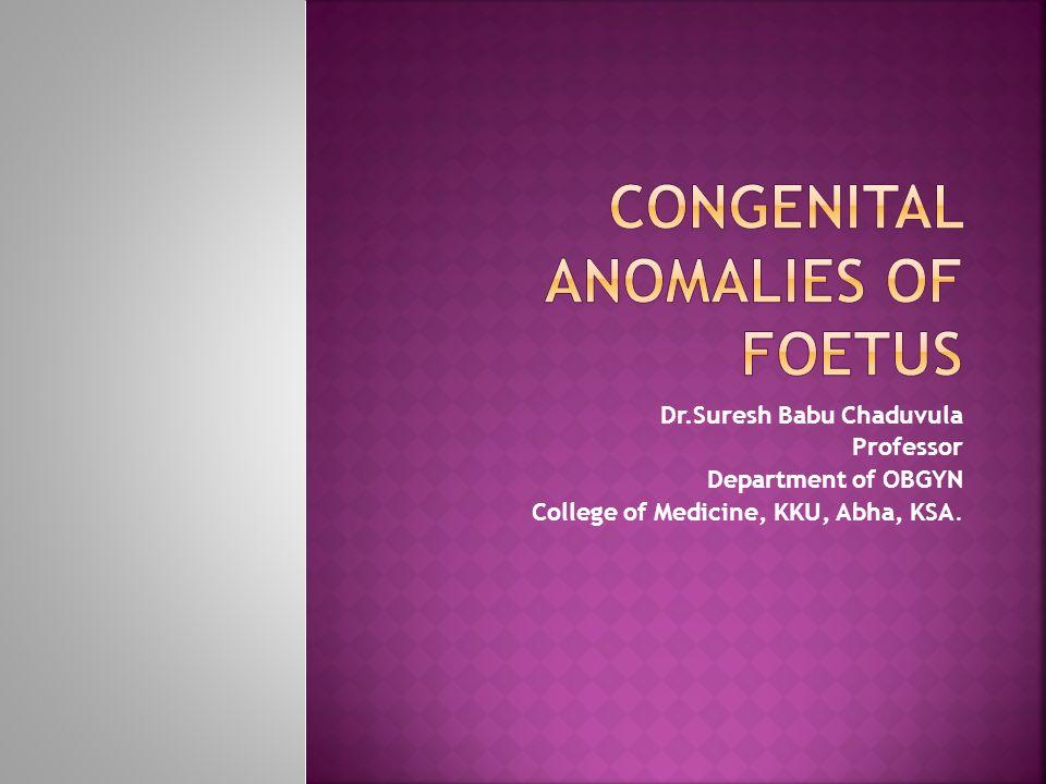 Drresh Babu Chaduvula Professor Department Of Obgyn College Of