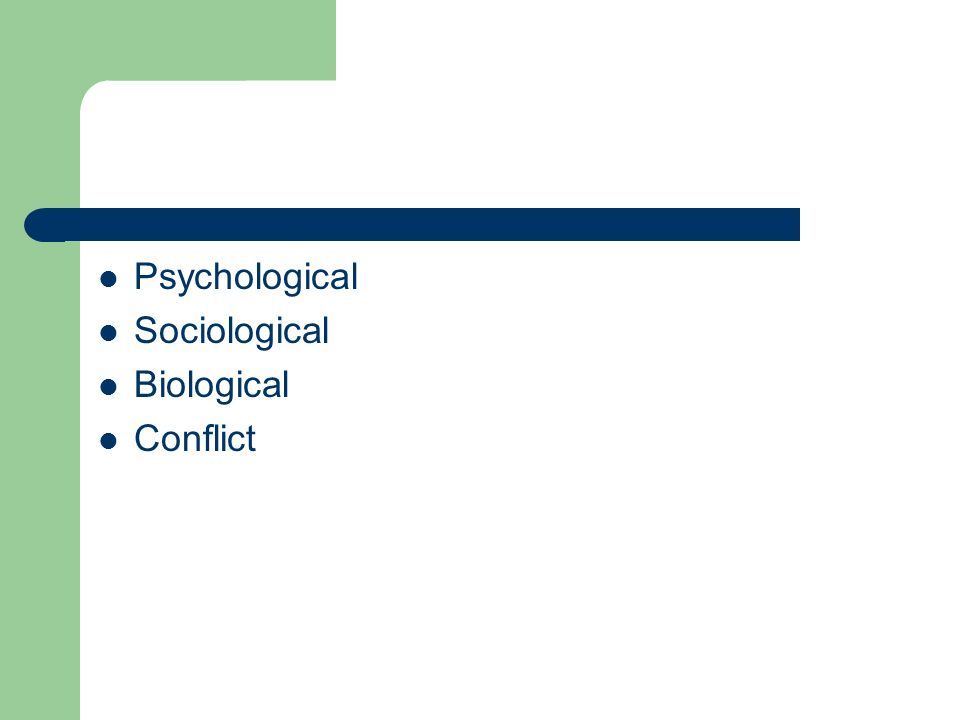 types of conflict theories pdf