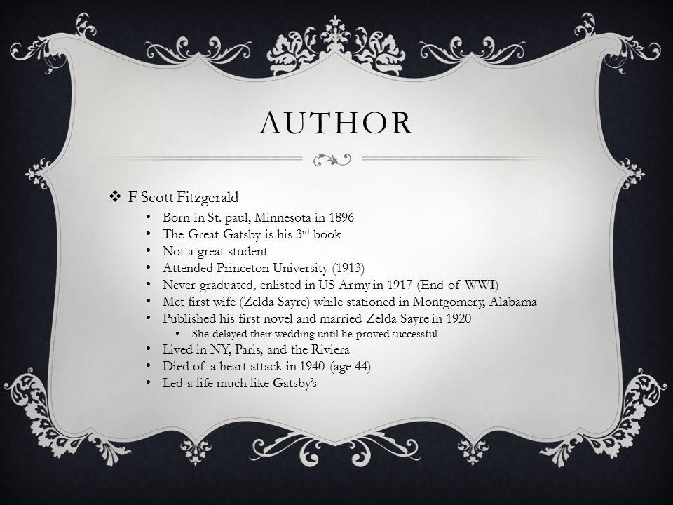 THE GREAT GATSBY Novel Analysis By Emily White Kathy Saunders AP