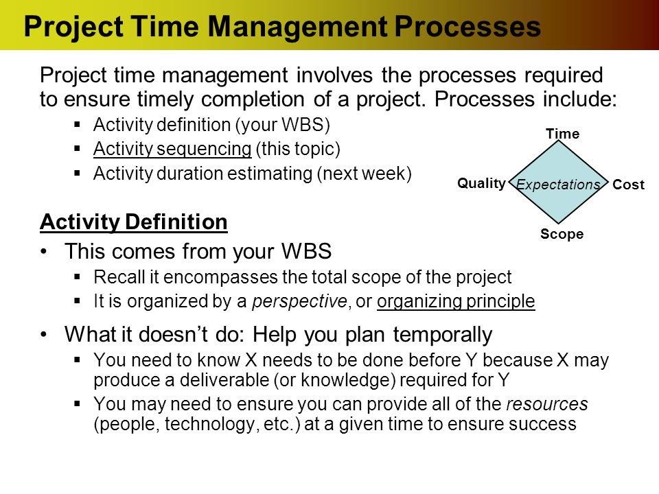 Software Project Management Task Sequencing Activity