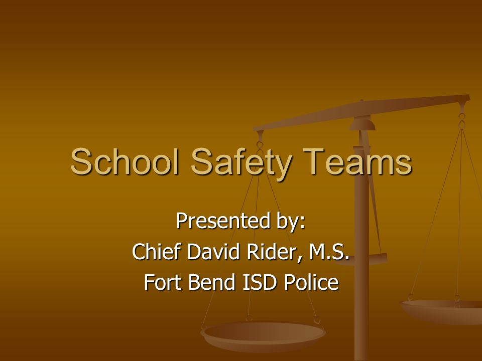 Institute for Criminal Justice Studies School Safety Teams