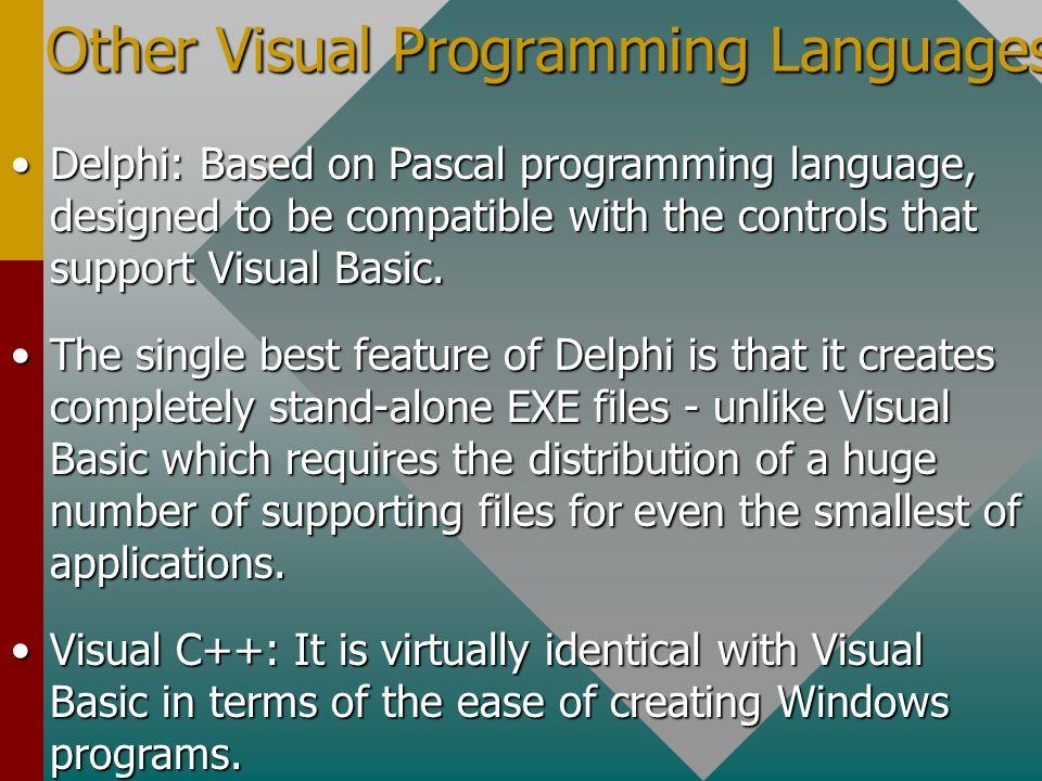 ProgrammingLanguages Programming Languages Event-Driven Visual