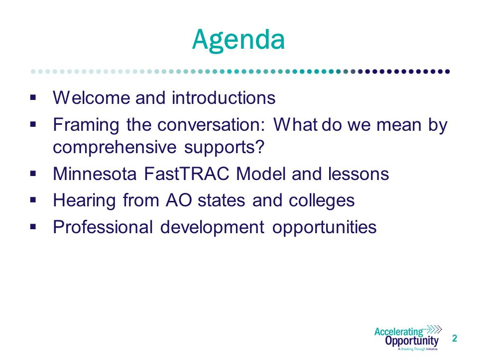 2 Agenda  Welcome and introductions  Framing the conversation: What do we mean by comprehensive supports.